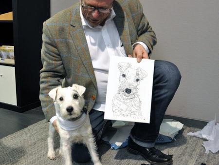 2 x Gundi und der stolze Besitzer (Foto David Valles Fernandez)