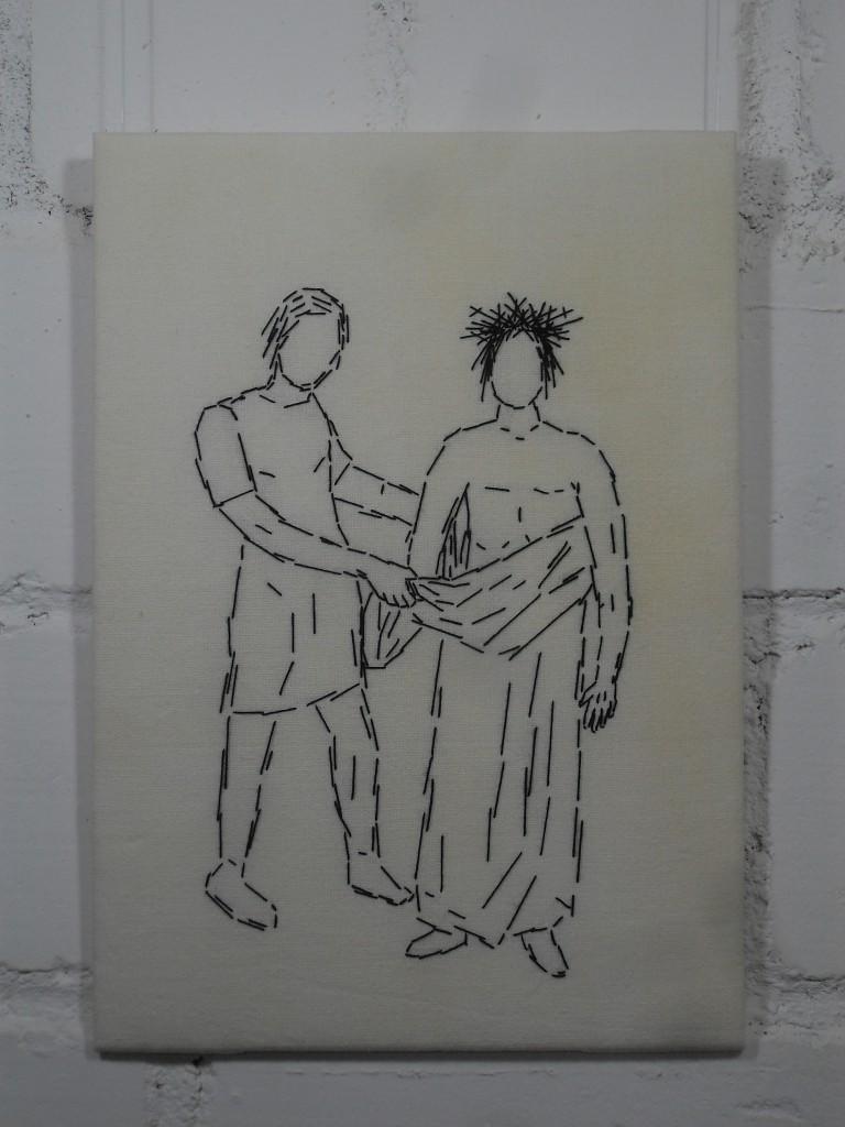 10. Station: Jesus wird seiner Kleider beraubt.