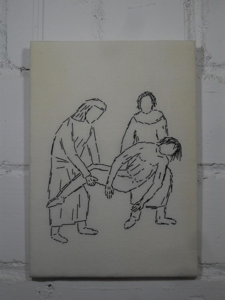 14. Station: Der Leichnam Jesu' wird in das Grab gelegt.
