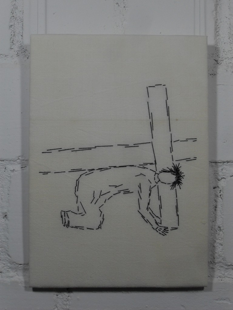 7. Station: Jesus fällt zum zweiten Mal unter dem Kreuz.