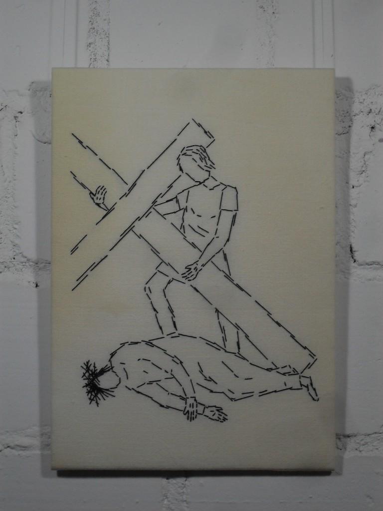 9. Station: Jesus fällt zum dritten Mal unter dem Kreuz.