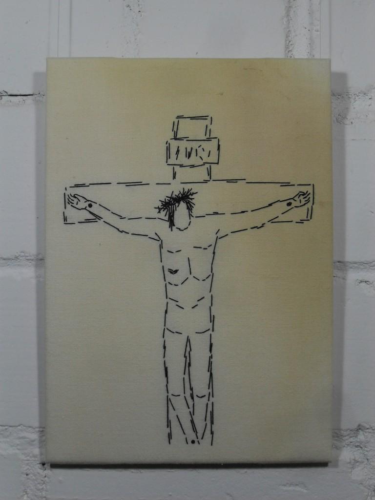 12. Station: Jesus stirbt am Kreuz.
